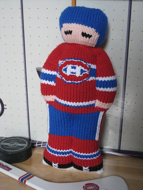 Ravelry: My First Hockey Player: Montreal Canadiens pattern by Jennifer Lori