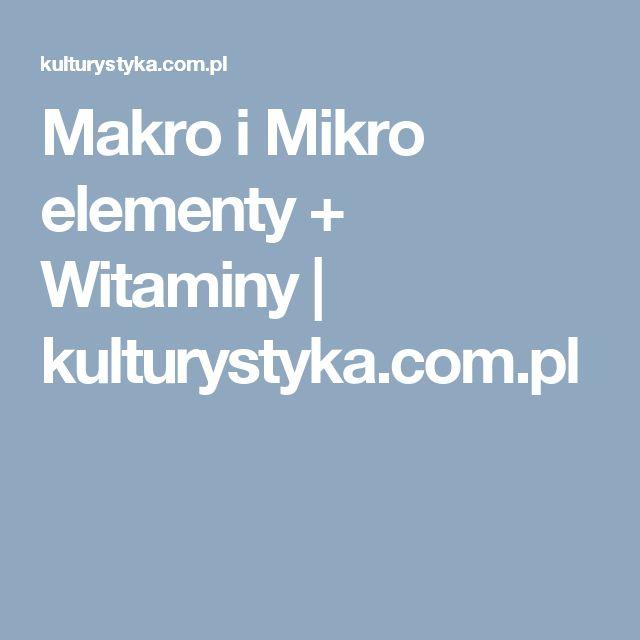 Makro i Mikro elementy + Witaminy | kulturystyka.com.pl
