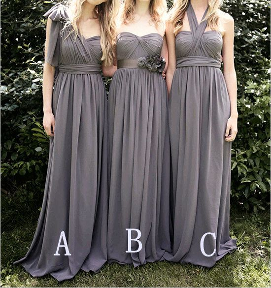 Popular Bridesmaid Dress Long Grey Convertible by harsuccthing, $109.00