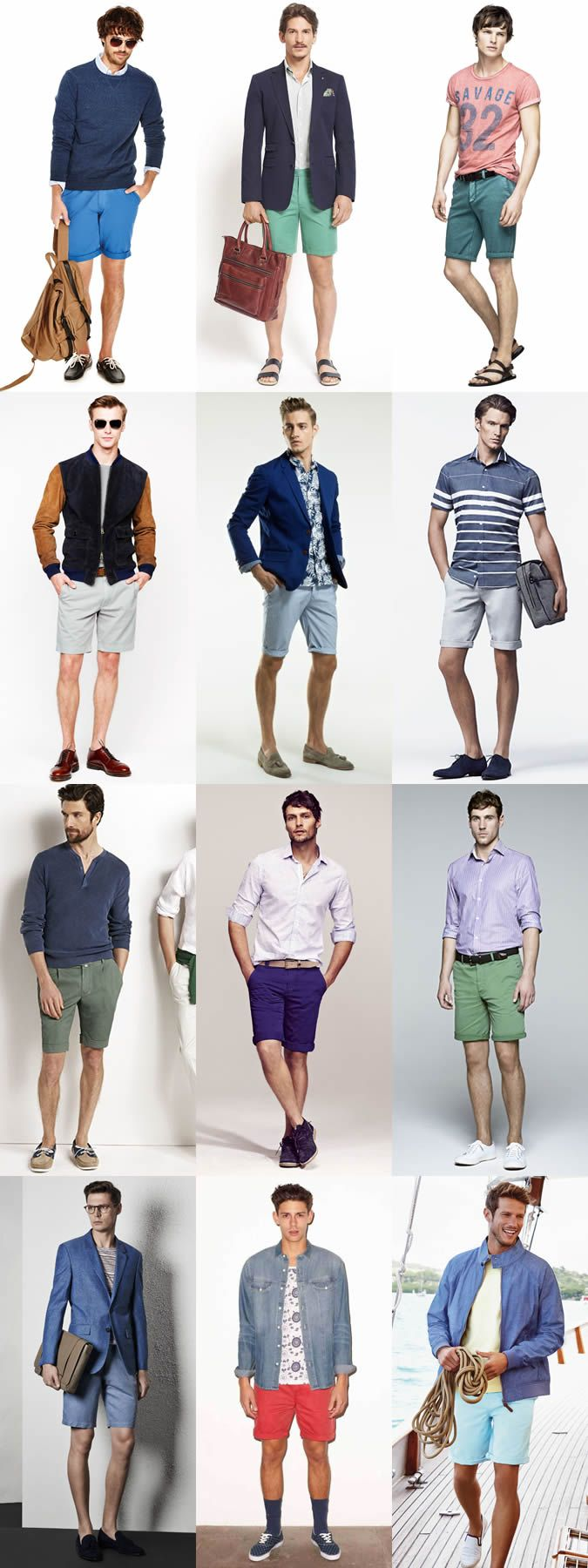 Men's Shorts - Outfit Inspiration Lookbook: