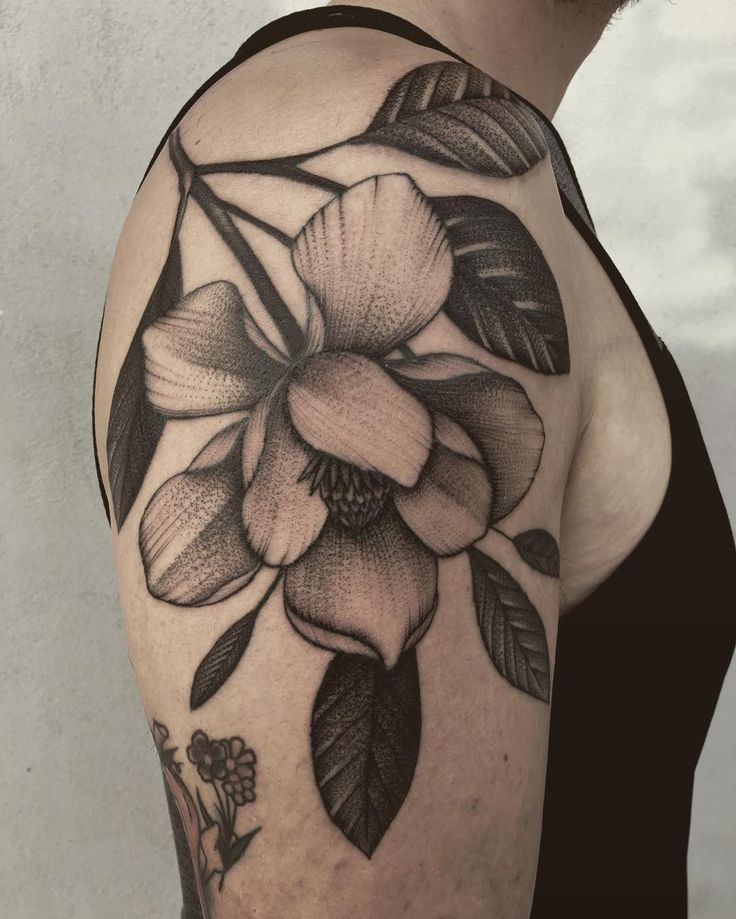 Pin By Mirza Ribic On Tattoo Ideas: Great Floral Tattoo, Looks Like A Magnolia
