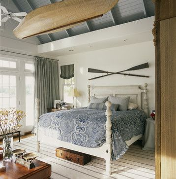 Bedroom Design Ideas: Decorating Above Your Bed - could do this with golf clubs?