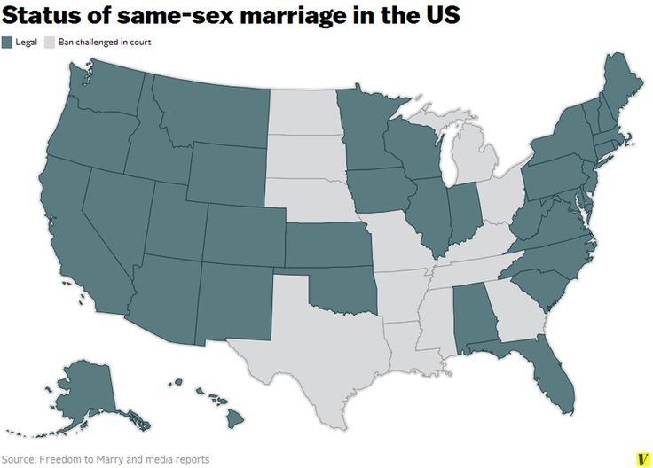 Maps That Explain America - Gay marriage in the us interactive map