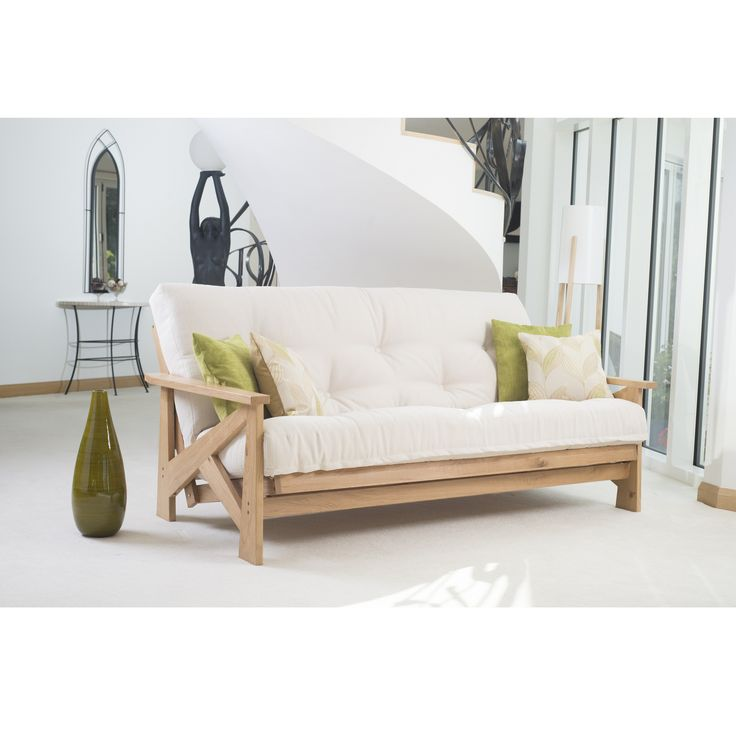 Copenhagen 3 Seater Oak Futon Sofa bed Looking for something different? We are very proud to present another fabulous unique 'new look' from the designers at Cambridge Futons. The Copenhagen 3 seater Futon sofabed has a totally unique Scandinavian inspired arm. The Scandinavian design movement is characterised by simplicity, minimalism and functionality. Using geometric and angular styling, ... Read more...