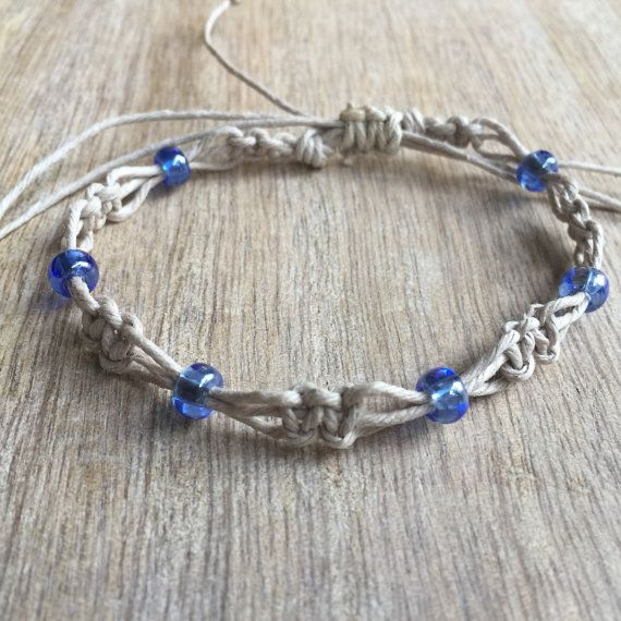 Hey, I found this really awesome Etsy listing at https://www.etsy.com/listing/247683570/beaded-anklet-natural-anklet-hemp-anklet