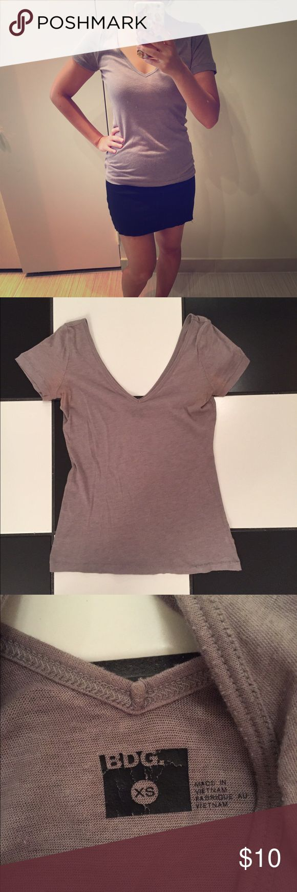 Grey Urban Outifitters Tshirt Grey BDG by Urban Outfitters Tshirt. Gentle wear in good condition. Some wear under the arms as pictured in last photo. Please ask all questions before purchasing and use the offer button, thanks! Urban Outfitters Tops Tees - Short Sleeve