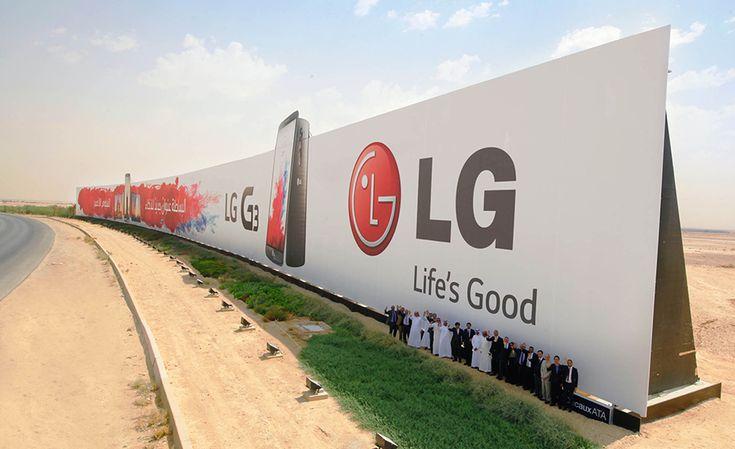 LG et JCDecaux : le plus grand panneau publicitaire du monde >> http://www.llllitl.fr/2014/09/lg-jcdecaux-panneau-publicitaire-billboard-record-du-monde/ #Mobile #Smartphone #LGG3 #Outdoor #Advertising #Marketing #Saudi #Arabia #Billboard #Riyad #Riyadh #Airport #Khaled #Khalid #ClearChannel #CBSOutdoor