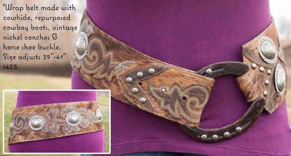 Brown Cowboy Boot Top Belt by ReRideStories on Etsy This is kinda cool!