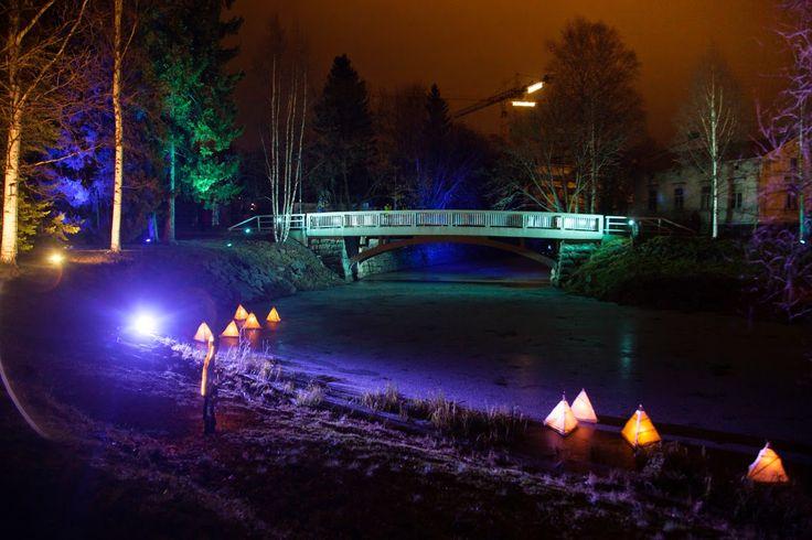 Promenadi Huwisaarilla | Valoa Oulu! 2014 | Photo: All rights reserved Inkeri Jäntti & Oulun kaupunki
