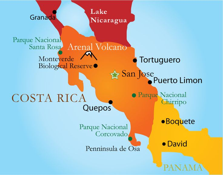 20 best costa rica para los turistas por marciana abuan images on this is a map of costa rica gumiabroncs Gallery