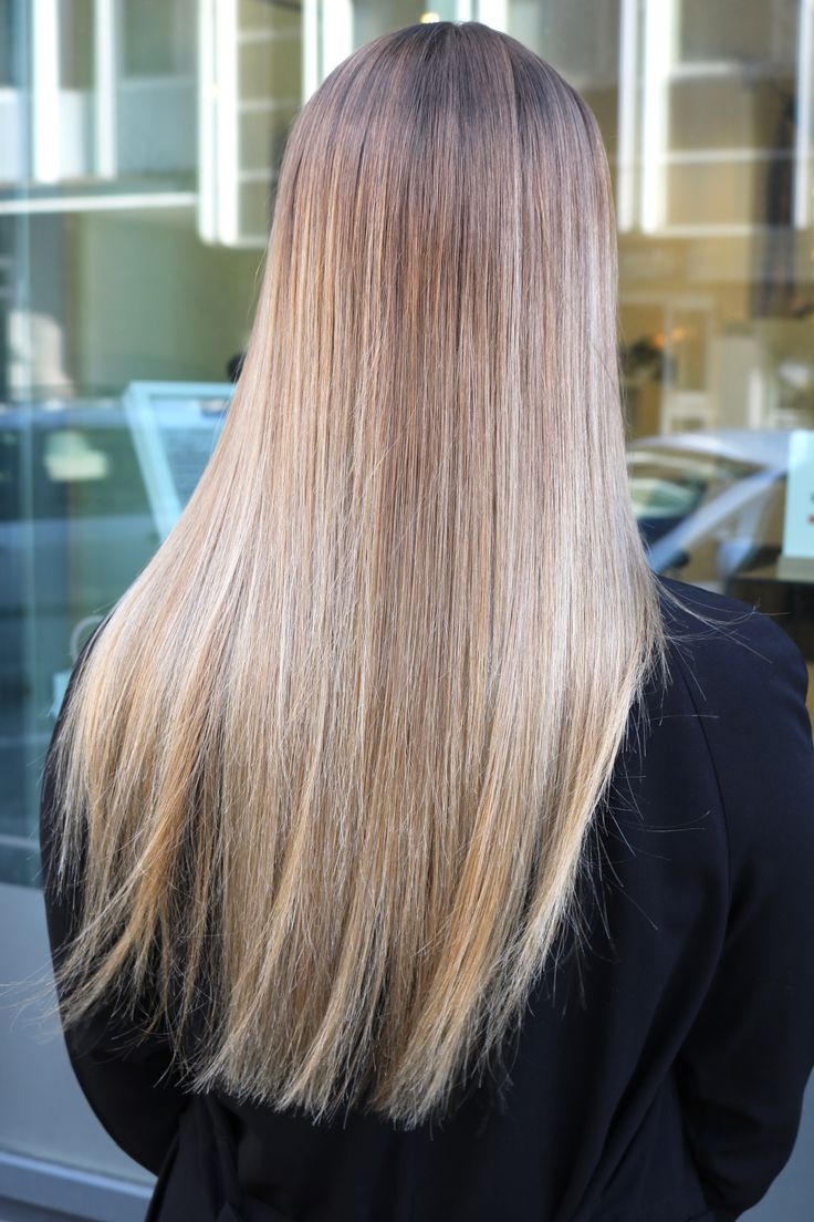 Cold ash blond with balayage