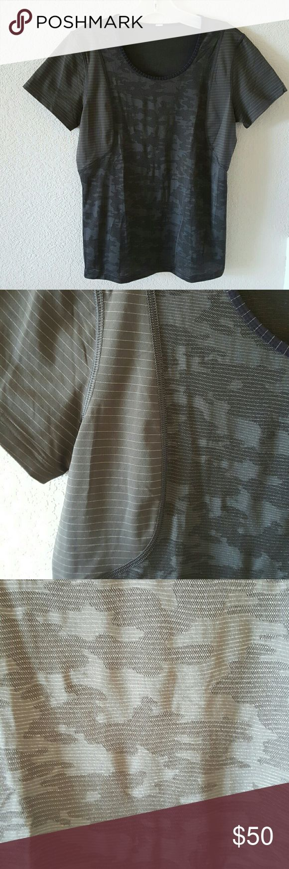 Lululemon mesh camouflage top New without tags lululemon athletica Tops Tees - Short Sleeve