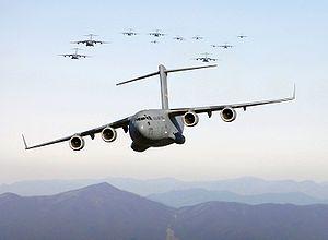 C-17.  The military's taxi!! Hoooaaa!