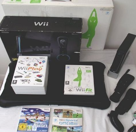 Nintendo Wii Console Black Sports Resort Edition(Includes Wii Sports Resort and Wii Sports)   Wii Fit Bundle - UK Special Edition Wii Sports Resort Black Console and Wii Fit Balance Board And Games (Barcode EAN = 0720189954733). http://www.comparestoreprices.co.uk/december-2016-week-1-b/nintendo-wii-console-black-sports-resort-edition-includes-wii-sports-resort-and-wii-sports- -wii-fit-bundle--uk.asp