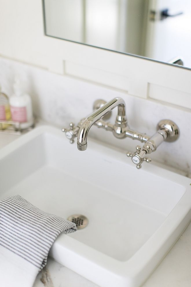 Wall Mounted Bathroom Faucet Polished Nickel Source On Home Bunch