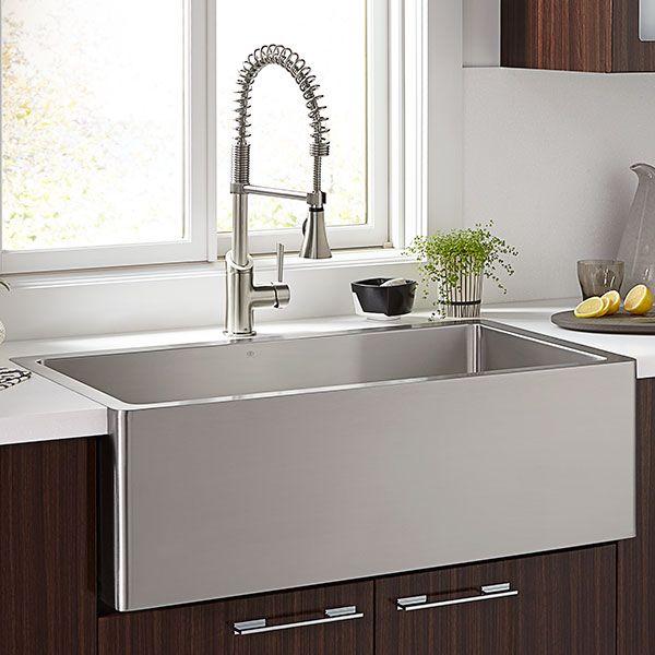 Dxv Hillside 36 Inch Stainless Steel Kitchen Sink Room Scene Stainless Steel