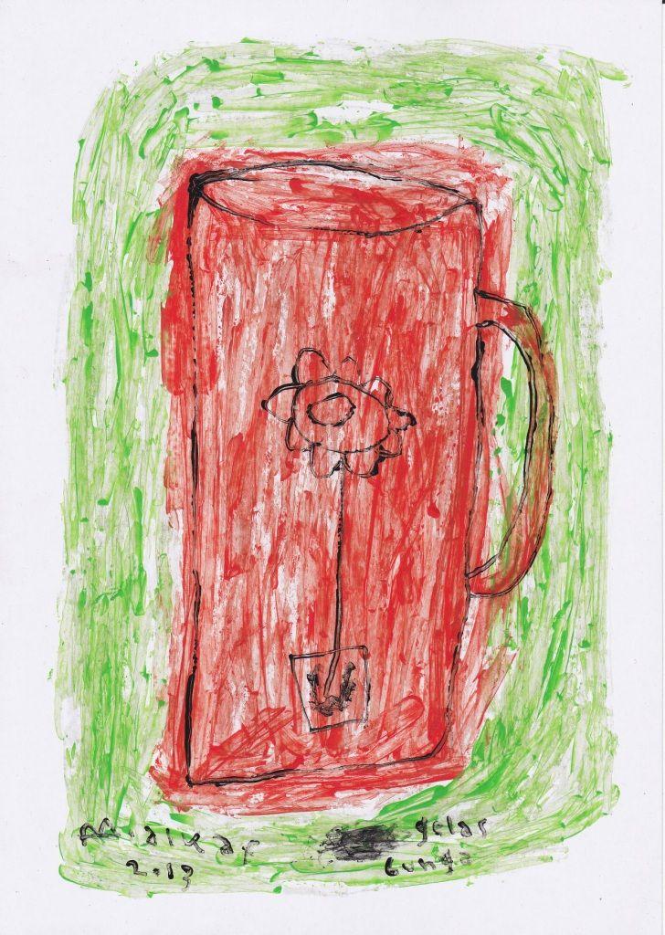 24. boy alkaf+gelas berbunga+akrilik pada kertas+A4+20137