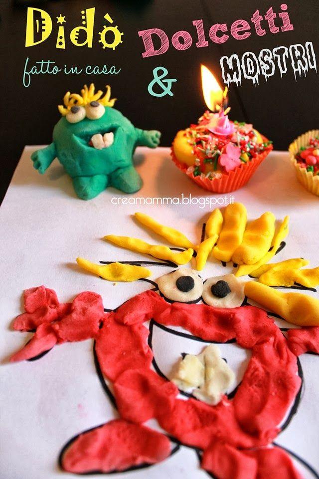 Un passatempo per bambini un po' malaticci! Didò fatto in casa, simpatici mostri e strani dolcetti!