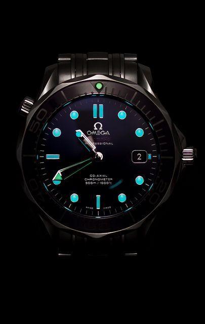 Omega Black Ceramic Seamaster Pro