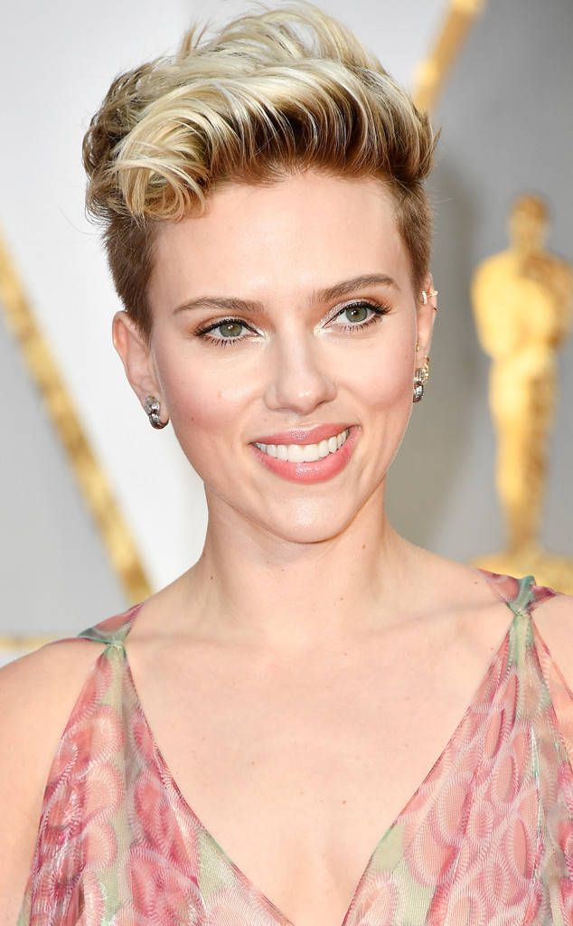 Scarlett Johansson from Oscars 2017: Best Beauty Looks  The actress' edgy pixie cut is giving us life! Plus, we need more risks like this on a red carpet.
