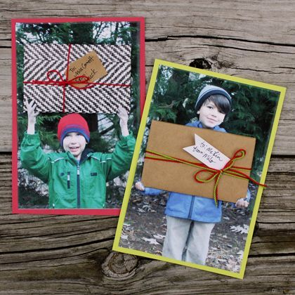 Photo Gift Card Holder - Looks like the giver is holding a huge gift. #MobilePrint #Sponsored