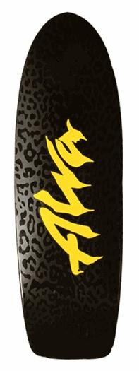 Alva Skateboards   Alva Leopard Re-Issue Deck   Black 10x32.75