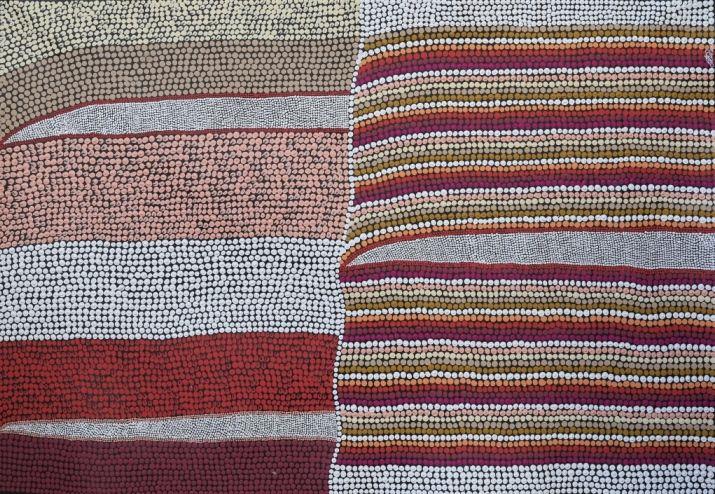 Land Lines, Amanda Conway-Jones 89x59 cm   #AboriginalArt