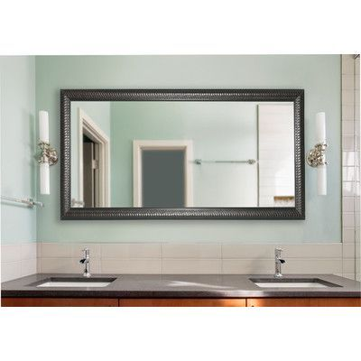 Rayne Mirrors Royal Curve Double Vanity Wall Mirror Size: Medium