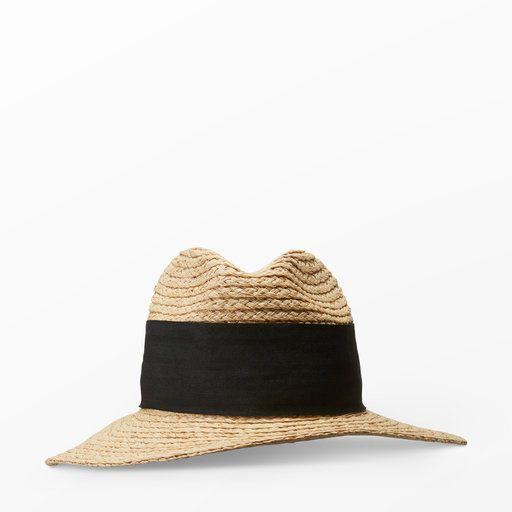 Stråhatt med svart band - Mössor & hattar- åhlens.se - shoppa online! 299 kr