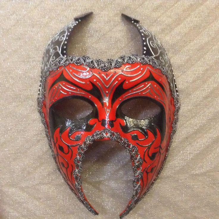"Venetian costume devil mask , handmade, wearable, wall decoration, in black red n silver ""Red Venetian Devil"" by EthnicDrops on Etsy https://www.etsy.com/listing/270193353/venetian-costume-devil-mask-handmade"