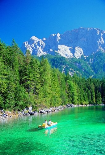 The best summers I had as a kid were here! ❤️ Eibsee Lake - Germany @gebhart5 almost threw me off those boats more than a few times.