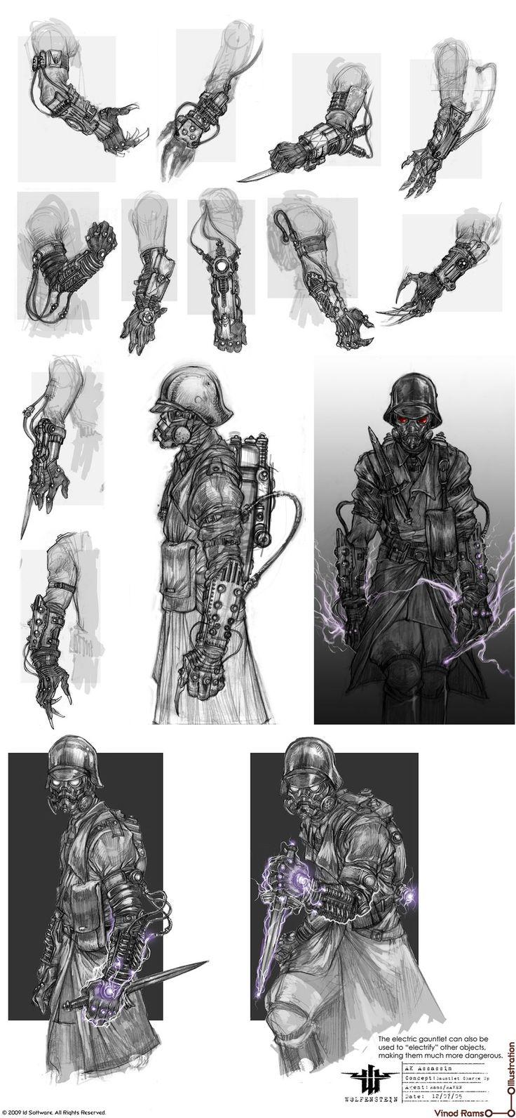 vinodrams - Wolfenstein>Misc. Concepts Love these arm ideas
