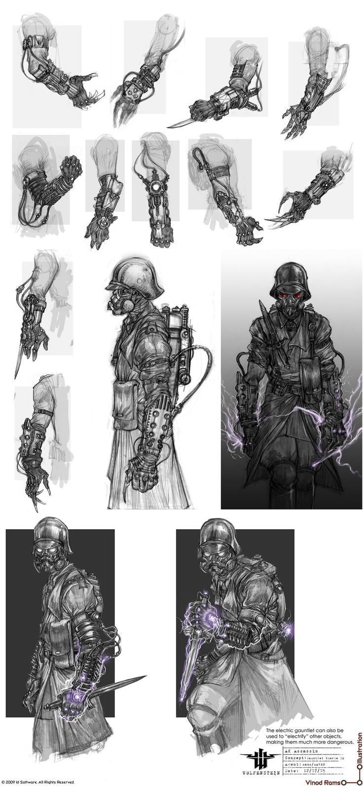 vinodrams - Wolfenstein>Misc. Concepts Love these arm ideas