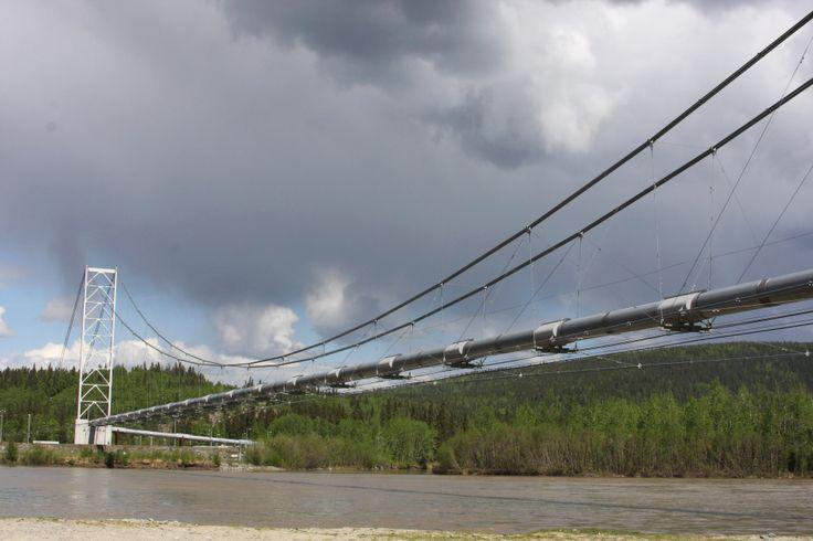 A bridge across a river for the Alaskan Pipeline.   06/2013.