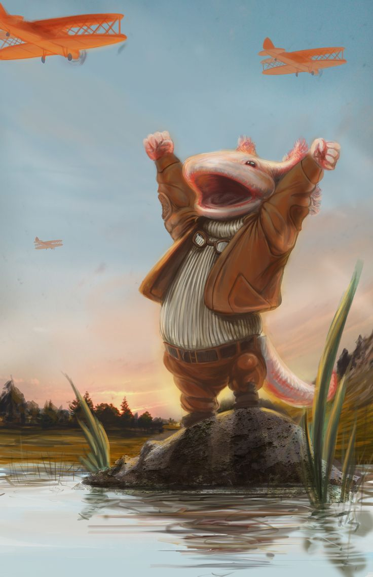 Axolotl with a Dream by José Luis Islas López