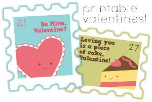 Stamps of Love Printable Valentines