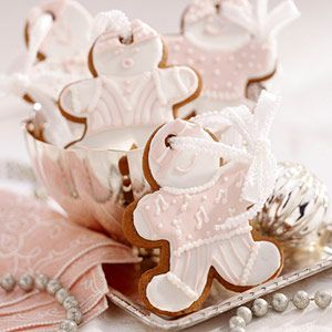 Gingerbread Man Cookies With A Satin Ribbon So you can Use the