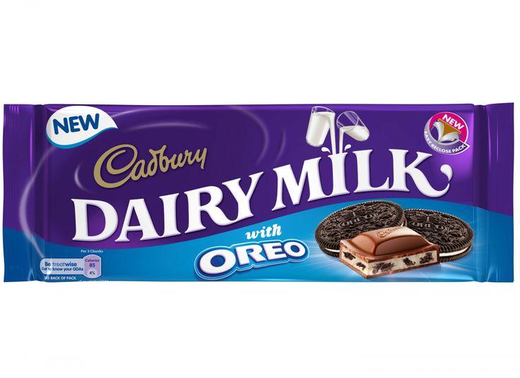 Diary Milk Oreo  Description: Een Cadbury melkchocolade reep met een vulling van Oreo's!  Price: 2.75  Meer informatie  #Jamin