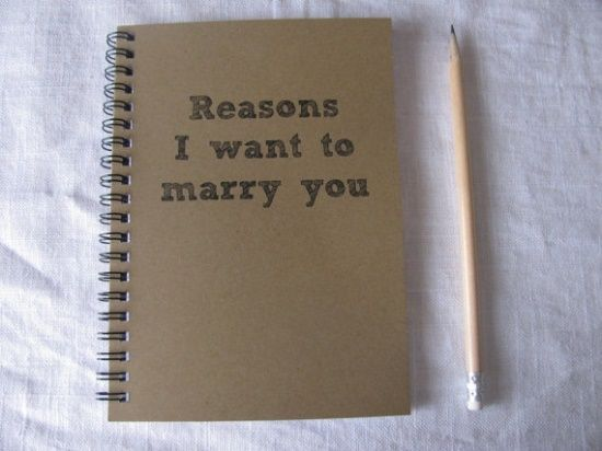 start writing things in this starting from when you get engaged and give it to him on the morning of the wedding