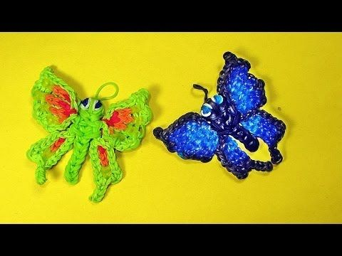 Rainbow Loom BUTTERFLY. Designed and loomed by DIYMommy. Click on photo for YouTube tutorial. 03/21/14