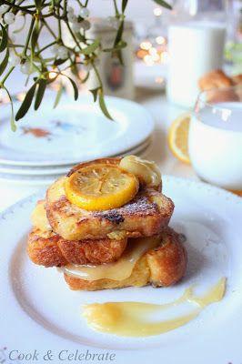 Francuskie tosty z puchatej brioszki oraz krem cytrynowy / lemon curd