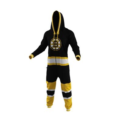 Boston Bruins Team Uniform Onesie (These are awesome and would love wicked funny on all my friends.)