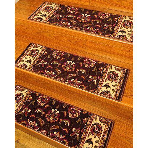 Best Blue Rug Carpet Stair Treads Set Of 12 Cts12B Carpet 640 x 480