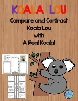 Koala Lou by Mem Fox is a delightful story of a koala and her mother's love and this activity uses paired texts to compare and contrast Koala Lou with a real koala! It includes:7 vocabulary graphic organizersKWL ChartA fun comprehension foldable to show understanding of text!Vocabulary flash cardsCompare and contrast graphic organizerNon-fiction printable of a koalaCompare and contrast sentence frame