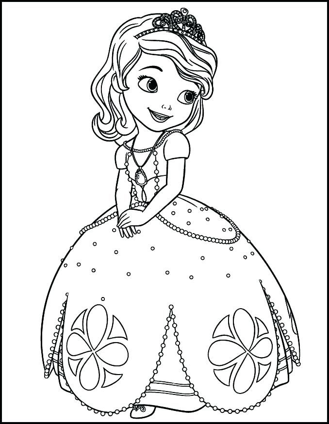 Princess Sofia Coloring Book As Well As Princess Coloring Page