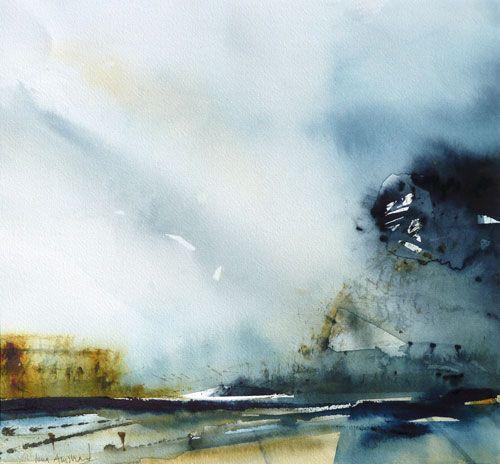 """""""Blå berg"""" by Lena Amstrand."""