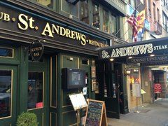 St Andrews - theater district - do NOT miss the sticky toffee pudding.  Sigh.