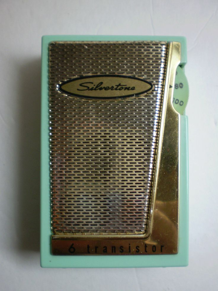 Vintage Sears Silvertone Model 1203 Mint Green Am 6 Six Transistor Radio USA | eBay