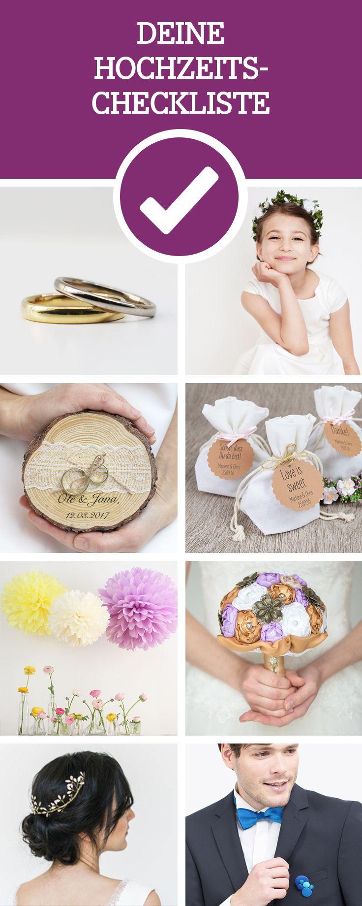 Wir haben eine Hochzeits-Checkliste für Dich. So geht bei der Hochzeitsplanung nichts verloren / planning a wedding is hard: we provide the perfect wedding checklist for you via DaWanda.com