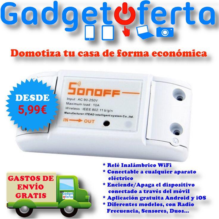 #Sonoff, la solución #domótica más económica para hacer tu hogar inteligente.  Ahora desde 5,99€ y envío Gratis.